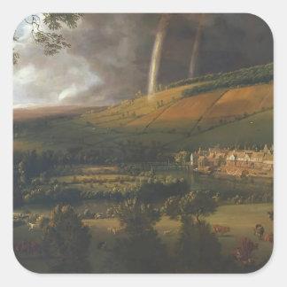 Jan Siberechts- Landscape with Rainbow, Henley Square Sticker