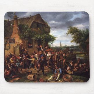 Jan Steen- A Village Revel Mouse Pad