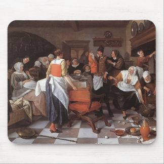 Jan Steen- Celebrating the Birth Mousepads