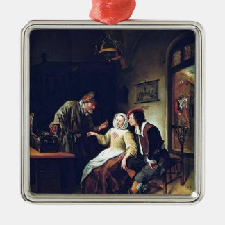 Jan Steen- Choice between Richness and Youth Christmas Ornaments
