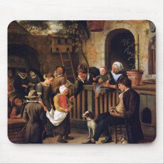 Jan Steen- Little collector Mousepad