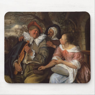 Jan Steen- Merry Threesom Mouse Pad