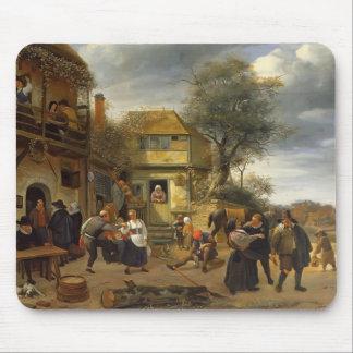 Jan Steen- Peasants before an Inn Mousepad