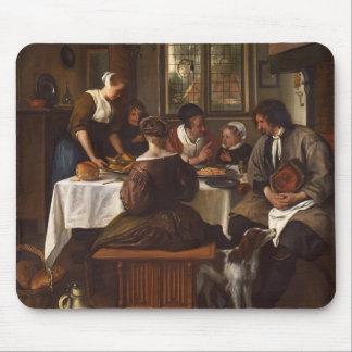 Jan Steen- Prayer before Meal Mousepads