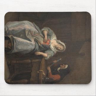 Jan Steen- Sick woman Mouse Pads