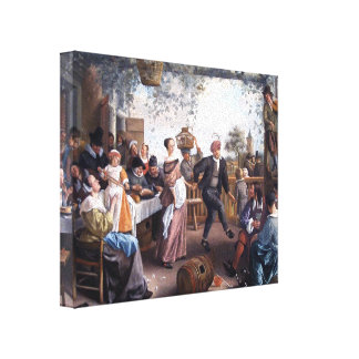 Jan Steen- The Dancing Couple Gallery Wrap Canvas