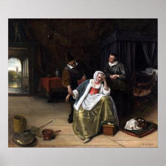 Jan Steen The Lovesick Maiden Poster