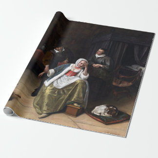 Jan Steen The Lovesick Maiden Wrapping Paper