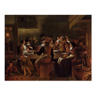 Jan Steen- Twelfth Night Postcard