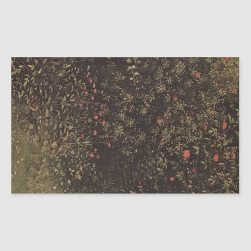 Jan Van Eyck - Flowering shrubs and plants Rectangular Stickers