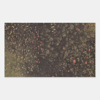 Jan Van Eyck - Flowering shrubs and plants Rectangle Stickers