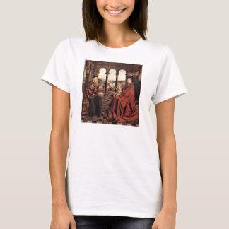 Jan Van Eyck - Madonna and Chancellor Nicholas Rol T-Shirt