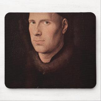 Jan van Eyck- Portrait of Jan de Leeuw Mousepad