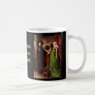 Jan Van Eyck Protrait of Giovannit Arnofini Wife Mug