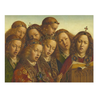 Jan van Eyck Singing angels Ghent CC0974 Postcard
