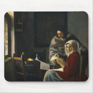 Jan Vermeer - Girl Interrupted at Her Music Mouse Pad