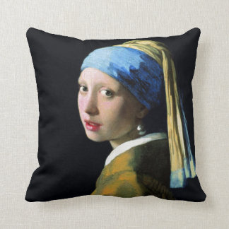 Jan Vermeer Girl With A Pearl Earring Baroque Art Cushion
