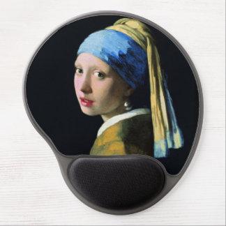 Jan Vermeer Girl With A Pearl Earring Baroque Art Gel Mousepad