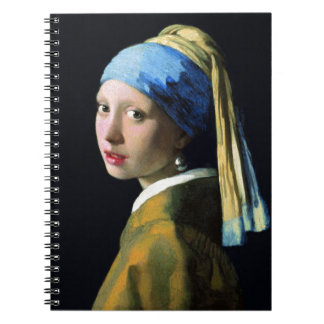 Jan Vermeer Girl With A Pearl Earring Baroque Art Spiral Notebook