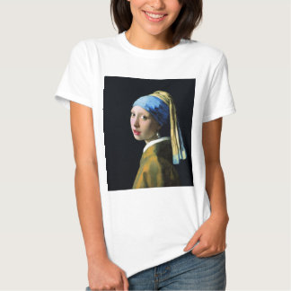 Jan Vermeer Girl With A Pearl Earring Baroque Art T Shirts