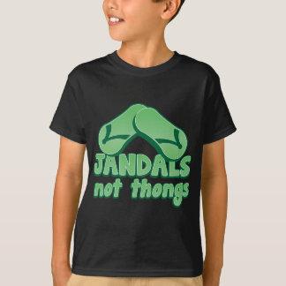 JANDALS not thongs Kiwi Aussie funny design T-Shirt
