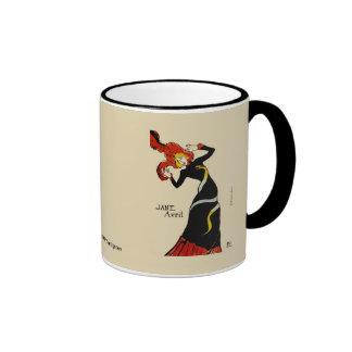 Jane April LAUTREC REDUX Edition Ringer Mug