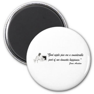 Jane Austen Apple Pies Quote Magnet