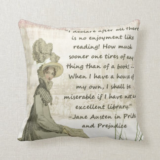 Jane Austen Book Lovers Cushion