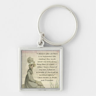 Jane Austen Book Lovers Key Ring