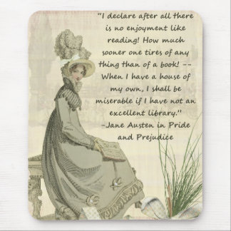 Jane Austen Book Lovers Mouse Mat