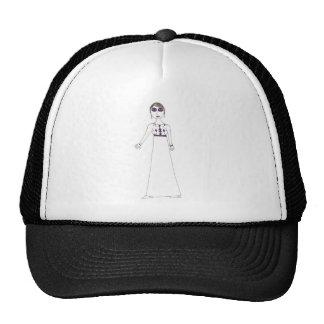 Jane Austen button eye Purple Mesh Hat