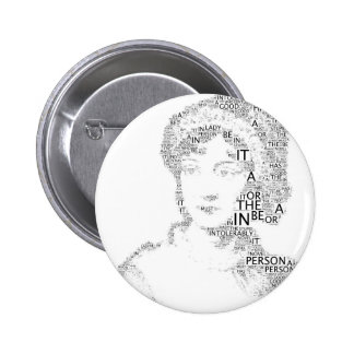 Jane Austen Button in Black