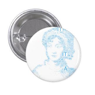 Jane Austen Button in Blue