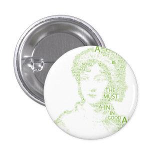 Jane Austen Button in Green