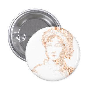 Jane Austen Button in Orange