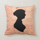 Jane Austen, Call Me Lady Jane CrissCrossed Letter Throw Pillow