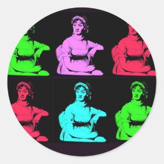 Jane Austen Collage Classic Round Sticker