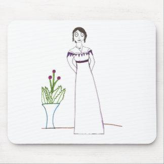 Jane Austen Creepy Plant Mousepad
