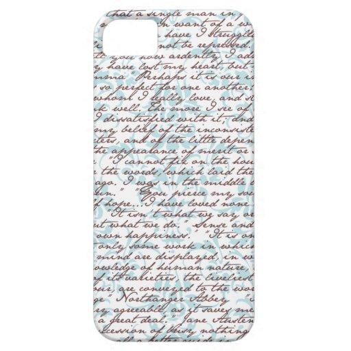 Jane Austen Damask iPhone 5 Case