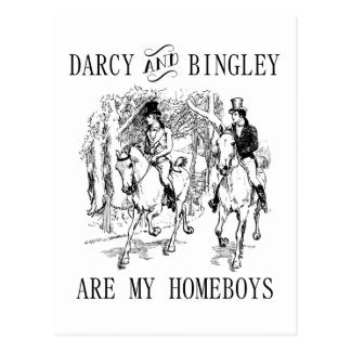 Jane Austen Darcy & Bingley Homeboys postcards