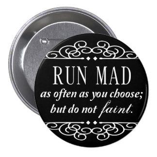 Jane Austen: Do Not Faint Pinback Button (Black)