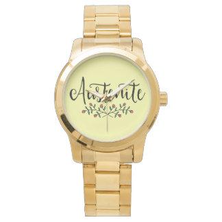 Jane Austen Floral Austenite Watch