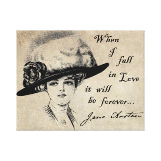 Jane Austen: Forever Gallery Wrapped Canvas