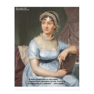 Jane Austen Friendship/Love/Balm Love Quote Gifts Postcard