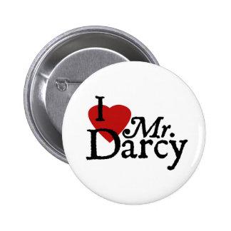 Jane Austen I LOVE Mr. Darcy 6 Cm Round Badge