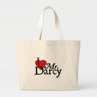 Jane Austen I LOVE Mr. Darcy Large Tote Bag
