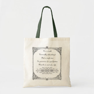 Jane Austen Inspiration Bag