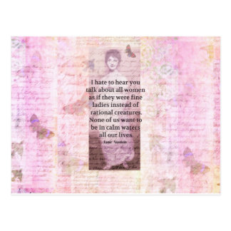 Jane Austen Inspirational quote empowerment women Postcard