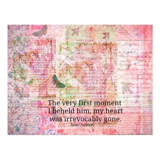 Jane Austen Love Romance quote text ART Postcard