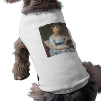Jane Austen Loved U Less Quote On Gifts & Cards Sleeveless Dog Shirt